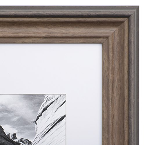 11x14 Picture Frame Brown - Matted to 8x10, Frames by - Brown Frame