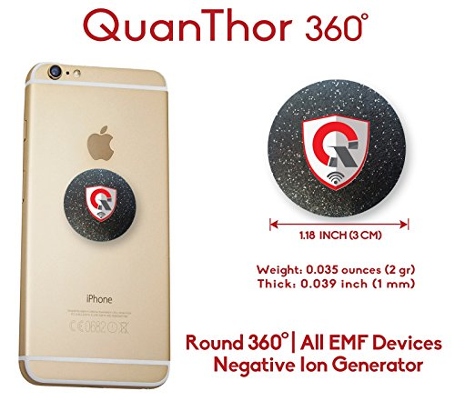 360 Round EMF Protection Tesla Technology: EMF Absorption From CELL PHONE, WiFi, Laptop-All EMF Devices|Negative Ion Generator| International AWARDS|Anti Radiation Shield, EMR Blocker Device 1.18 INCH (Cell Phones Wifi)