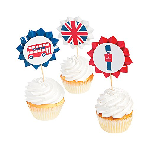 Fun Express - Royal Baby Shower Cupcake Picks for Baby - Party Supplies - Serveware & Barware - Picks & Stirrers & Parasols - Baby - 25 Pieces
