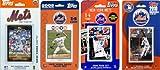 MLB New York Mets 4 Different Licensed Trading Card Team Sets
