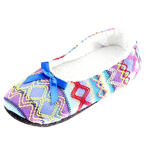 Leisureland Moda Donna Pantofole Comode Lavanda