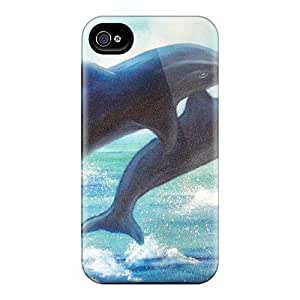 Excellent Hard Phone Covers For Iphone 4s (vrd114s77JesA) Allow Personal Design HD Miami Dolphins Image