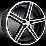 car 26 inch rims - Sik 051 26x9.5 Gloss Black and Machined Iroc Wheel / 5-127 mm Bolt Pattern / +10 mm Offset / 78.1 mm Hub Bore