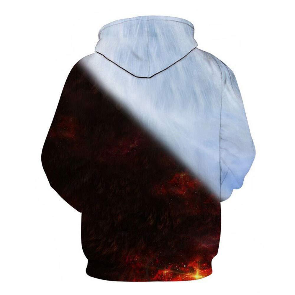 Amacok Mens Athletic 3D Print Pullover Hoodies Sweatshirt Unisex Realistic Digital Printed Hoodie Hooded Sweatshirt