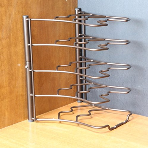 Large Product Image of Deco Brothers Pan Organizer Rack, Bronze