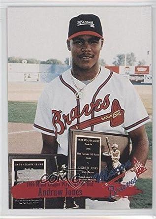 Amazoncom Andruw Jones Baseball Card 1995 Multi Ad Macon Braves