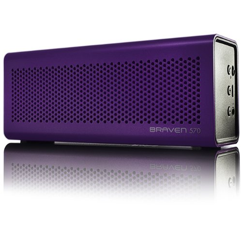 Playtime Daisy - BRAVEN 570 Portable Wireless Bluetooth Speaker [10 Hour Playtime][Waterproof] Built-In 1400 mAh Power Bank Charger - Purple