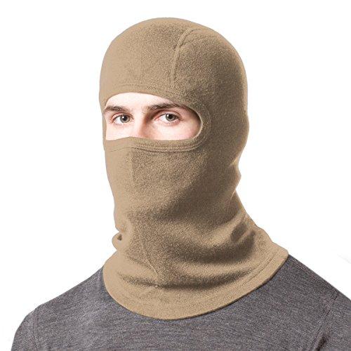 Minus33 Merino Wool Clothing Unisex Midweight Wool Balaclava, Desert Sand, One (Smartwool Balaclava)