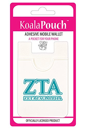 Zeta Tau Alpha - Koala Pouch - Adhesive cell phone wallet (Alpha Merchandise)