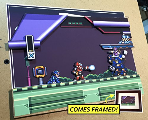 Mega Man X Diorama (Framed Artwork) SNES by Popt Art