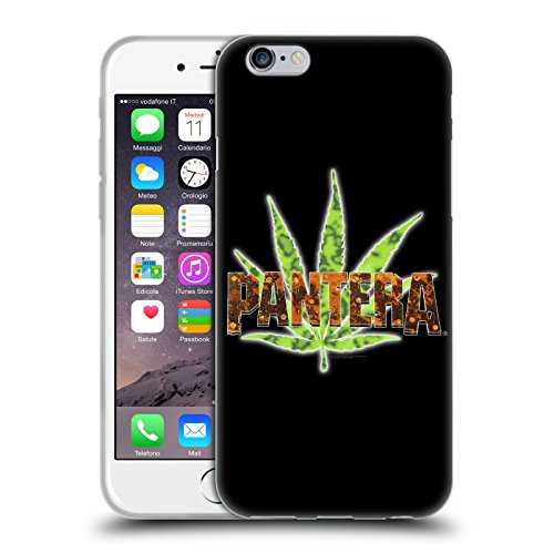 Official Pantera Vintage Leaf Art Soft Gel Case for iPhone 6 / iPhone 6s