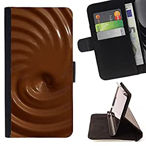 DEVIL CASE - FOR Samsung Galaxy S4 Mini i9190 - Chocolate Textures - Style PU Leather Case Wallet Flip Stand Flap Closure Cover