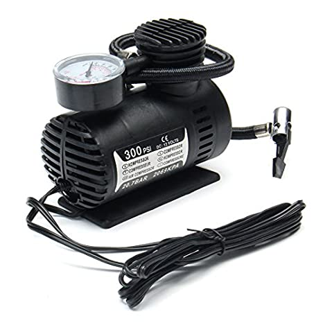 Amazon.com: Hitommy Portable Mini Air Compressor Vehicle Electric Tire Inflator Pump 12V 300 PSI: Kitchen & Dining