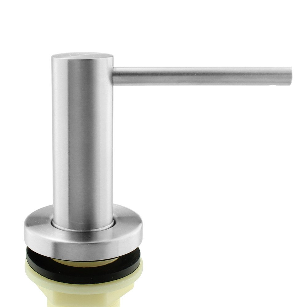 b ie UTF8&node kitchen sink soap dispenser Seafulee Sink Soap Dispenser Solid Heavy Modern Stainless Steel Brushed Nickel Deck Mounted Well Built Sturdy