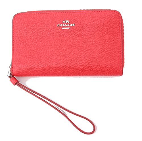 Coach Crossgrain Leather Phone Wallet Wristlet Clutch by Coach