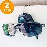 Sunglass Clip for Car Visor - Premium Eyeglass Holder - Set of 2