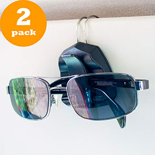 Sunglass Clip for Car Visor - Premium Eyeglass Holder - Set of ()