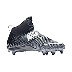 Nike Mens Lunarbeast PRO TD Football Cleats (9.5, Anthracite / Metallic Silver-black)