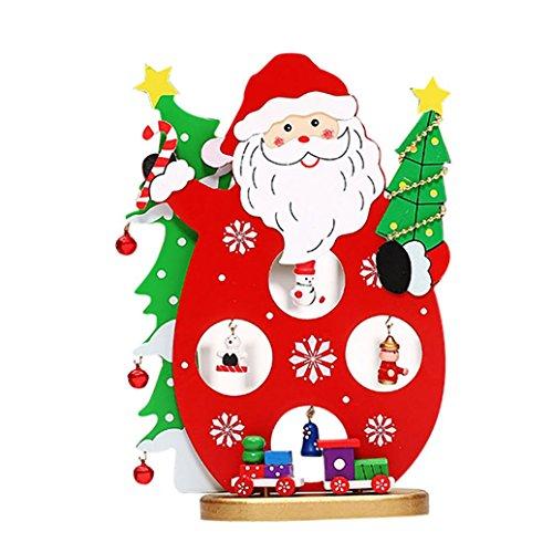 (Lavany Christmas Decorations Ornaments Santa Claus Snowman Train,Bar Shop Gift Home Decor)