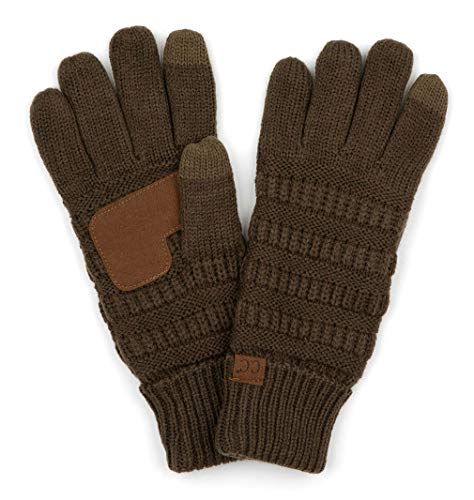 Fleece Green Scarf (G2-6020a-33 CC Knitted Lined Gloves - New Olive)