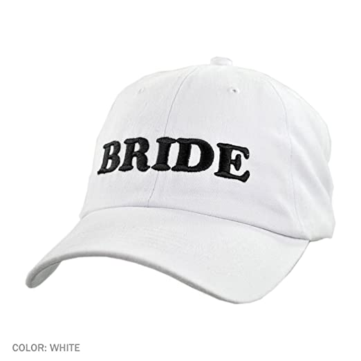 Village Hat Shop Bride Baseball Cap (Adjustable 4fde97e5622