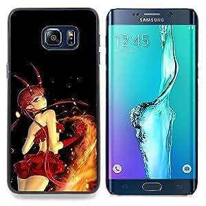 SKCASE Center / Funda Carcasa protectora - Cartoon Girl Sexy Red Devil;;;;;;;; - Samsung Galaxy S6 Edge Plus / S6 Edge+ G928