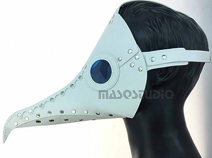 Blanco Máscara de pájaro Animal Masquerade máscara de Halloween disfraz de médico de la peste negra