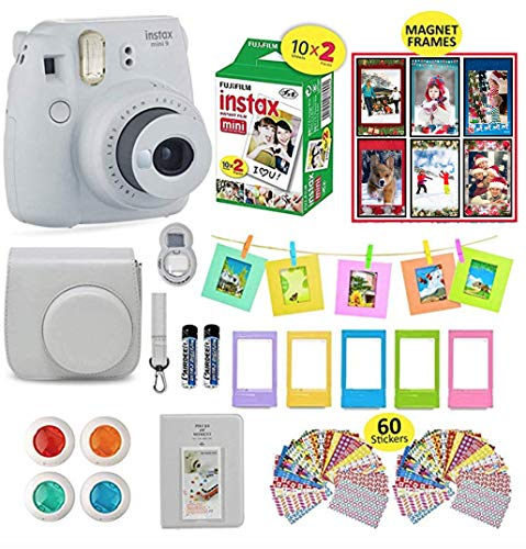 Fujifilm Instax Mini 9 Camera Smokey White Instax Camera Bun