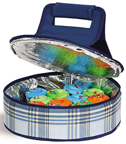 Picnic Plus Round Thermal Insulated Pie, Cake Carrier Holds Up To A 12 inchD Dish