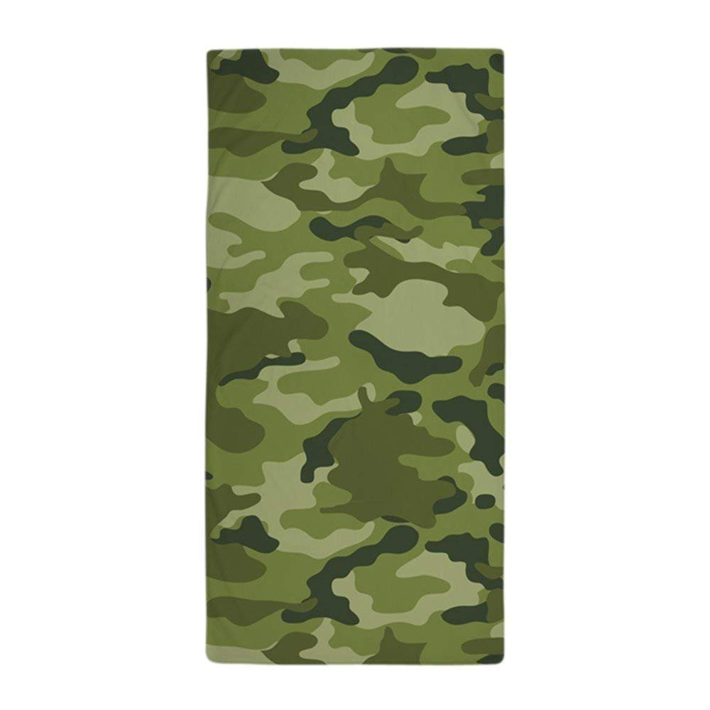 Green Camo PatternLarge Beach Towel, Soft 31x51 Towel with Unique Design Dongxu