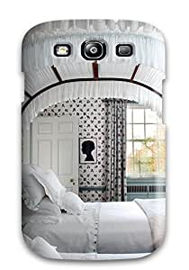 Excellent Design Child Room With Antique Canopied Bed In White With Red Floral And Matching Drapes Phone Case For Galaxy S3 Premium Tpu Case