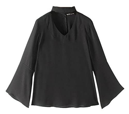 Aivosen Camisa Mujer Camisetas De Manga Larga Ocasionales Trompeta Camiseta Blusa De Elegante Casual...