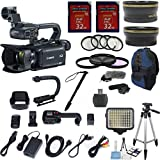 Canon XA35 Professional Camcorder w/ 10x HD Video Exclusive Celltime Bundle w/ .43x Wide Angle Lens +2.2x Telephoto +2pcs 32GB High Speed Memory Cards +22pc Accessory Kit - International Version