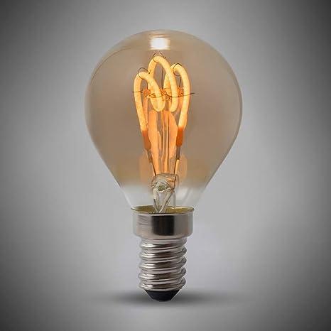Bombilla LED Edison de 2 W, E14, diseño de pelota de golf, 1800