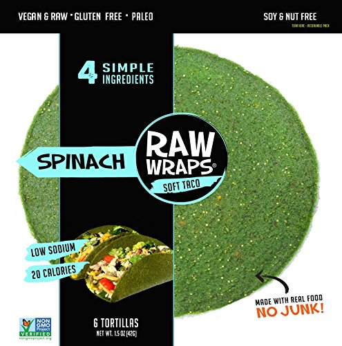 Raw Wraps Spinach Soft Taco - Wrap Tortilla