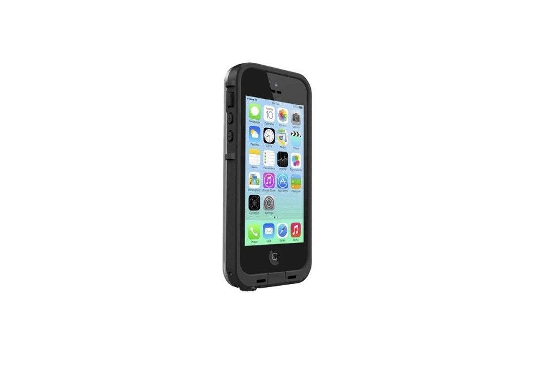 LifeProof FRE iPhone 5c Waterproof Case - Retail Packaging - BLACK/CLEAR by LifeProof (Image #1)