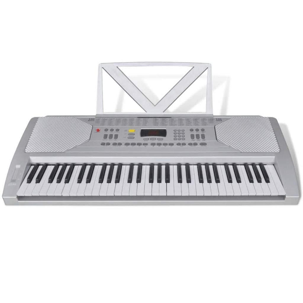 FZYHFA Teclado Electrónico Con Atril Partituras,Teclados Musicales Profesionales,Fácil de Montaje - 61 Teclas de Piano: Amazon.es: Instrumentos musicales