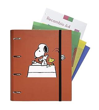 Grupo Erik Editores Snoopy - Carpeblock con 4 anillas, 32 x ...