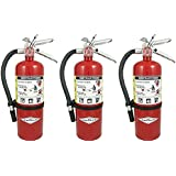 "Amerex B500, 5lb ABC Dry Chemical Class A B C Fire Extinguisher (3, 7.25"" W X 4.25"" D X 15.25"" H)"