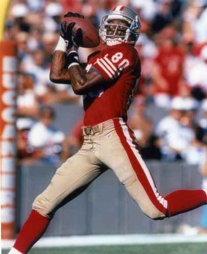JERRY RICE SAN FRANCISCO 49ERS 8X10 SPORTS ACTION PHOTO (G)