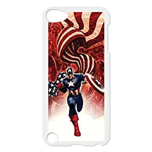 C-EUR Customized Print Captain America Pattern Hard Case for iPod Touch 5