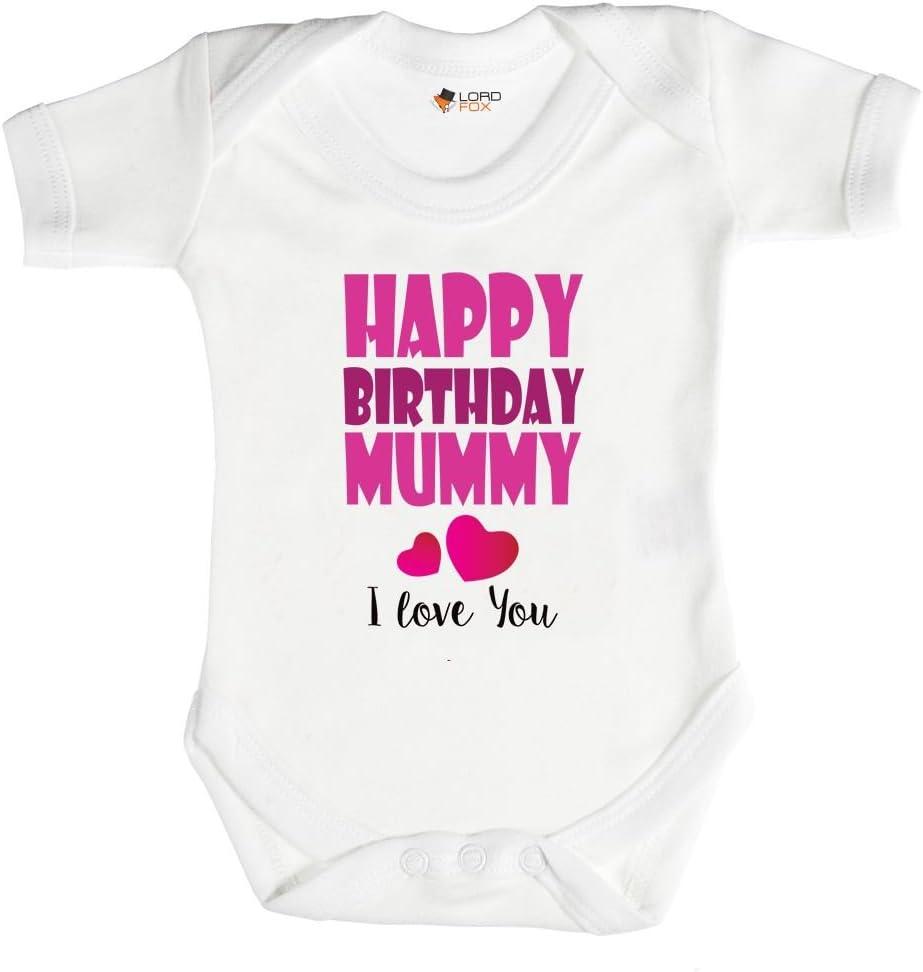 Birthday Gift HAPPY BIRTHDAY MUMMY Baby Bodysuit//Grow//Vest//Romper I Love Mummy