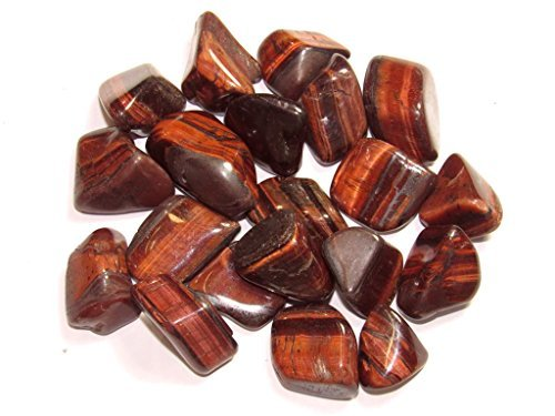 Zentron Crystal Collection: 1 lb Tumbled Red Tiger Eye in Velvet Bag