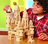 Discovery Kids 69-Piece Wooden Castle Block Set, Baby & Kids Zone