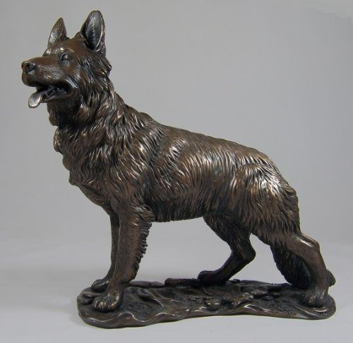 Large Bronze Sculpture German Shepherd Alsatian Dog Gsd by Dog - Shepherd Sculpture German