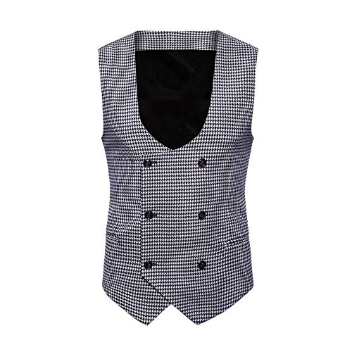 SMALLE ◕‿◕ Clearance,Men Plaid Button Casual Print Sleeveless Jacket Coat British Suit Vest Blouse by SMALLE