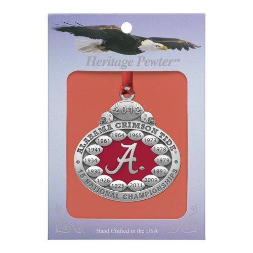 (Alabama Crimson Tide 2012 BCS National Champions Ornament)