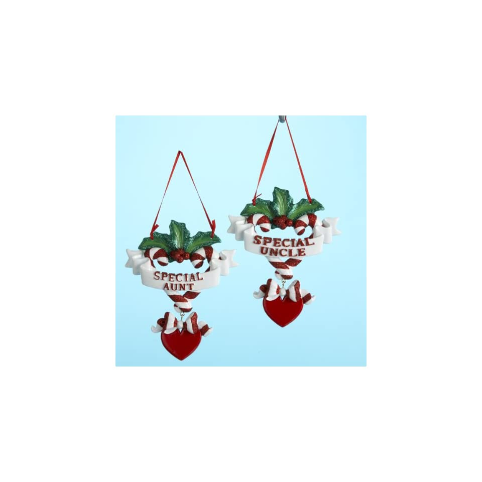Club Pack of 12 Special Aunt and Uncle Christmas Ornaments for Personalization