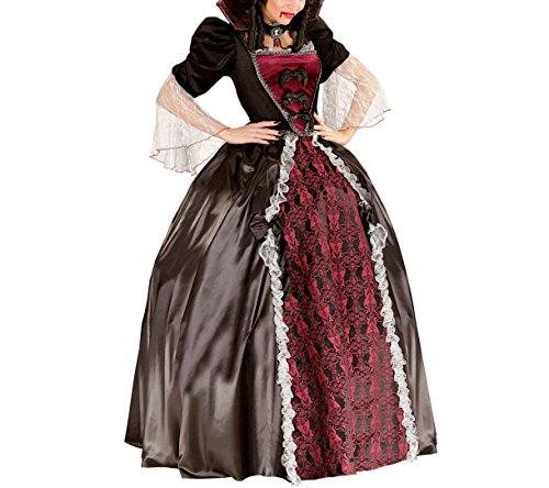 WIDMANN 05611–Adultes Costume Vampiress, robe, jupon, col avec Cameo