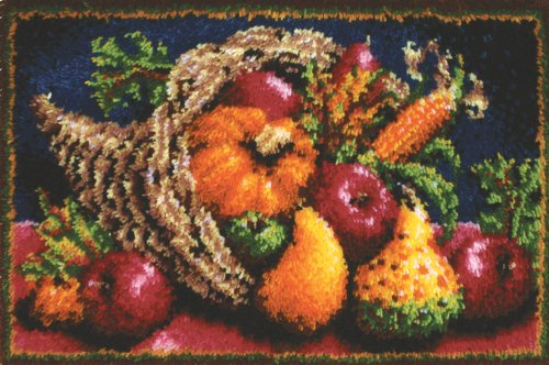 Caron Classics Latch-Hook Kit, Country Harvest, 20
